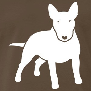 Chocolate dogz_minibull_v2 T-Shirts (Short sleeve) - Men's Premium T-Shirt