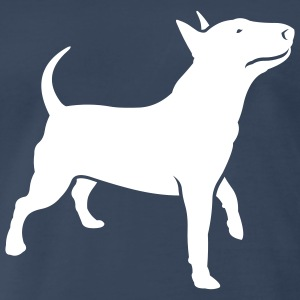Navy dogz_bully_headup_ai T-Shirts (Short sleeve) - Men's Premium T-Shirt