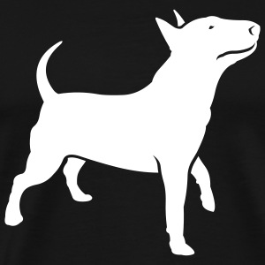 Black dogz_bully_headup_ai T-Shirts (Short sleeve) - Men's Premium T-Shirt