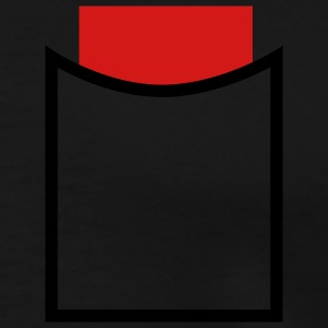 Black Referee - Red card in poket! T-Shirts (Short sleeve) - Men's Premium T-Shirt