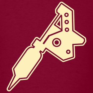 Burgundy urban_tattoo_machine T-Shirts (Short sleeve) - Men's T-Shirt