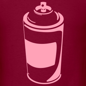 Burgundy urban_spraycan T-Shirts (Short sleeve) - Men's T-Shirt
