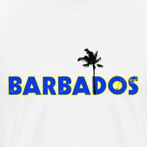 White Barbados T-Shirts - Men's Premium T-Shirt