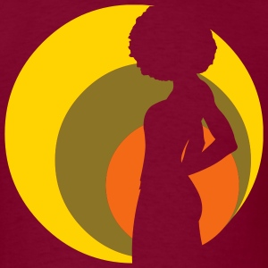Burgundy retro_afro_girl_v1 T-Shirts (Short sleeve) - Men's T-Shirt