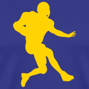 Royal blue football running back T-Shirts (Short sleeve) - Men's Premium T-Shirt