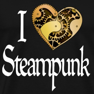 Heart Steampunk - dark - Men's Premium T-Shirt