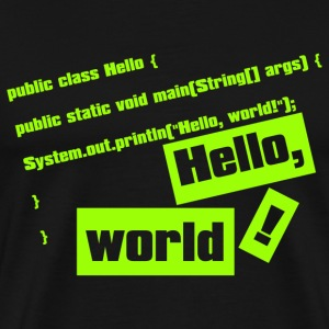 Hello, World! - Men's Premium T-Shirt