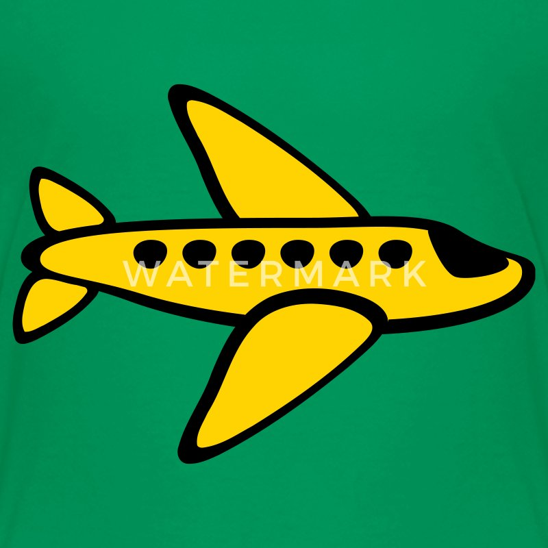 Kelly green Airplane, 3 Color Kids Shirts - Kids' Premium T-Shirt