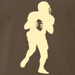 Chocolate american_football_player T-Shirts (Short sleeve) - Men's Premium T-Shirt