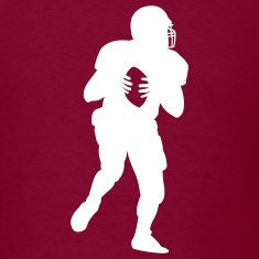Burgundy american_football_player T-Shirts (Short sleeve)