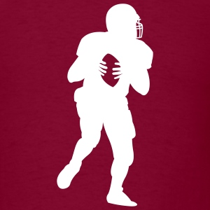 Burgundy american_football_player T-Shirts (Short sleeve) - Men's T-Shirt