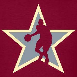 Burgundy basketballer_star_bg T-Shirts (Short sleeve) - Men's T-Shirt