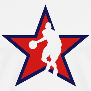White basketballer_star_bg T-Shirts (Short sleeve) - Men's Premium T-Shirt