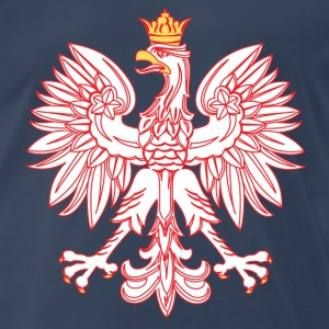 Polish Eagle Outlined In Red - Men's Premium T-Shirt