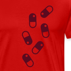 Red pills_pattern T-Shirts (Short sleeve) - Men's Premium T-Shirt