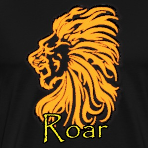 Black Lion Roar T-Shirts (Short sleeve) - Men's Premium T-Shirt