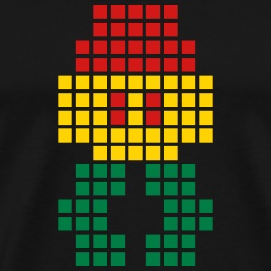Black Jahtari Space Invaderz RED GOLD GREEN T-Shirts (Short sleeve) - Men's Premium T-Shirt