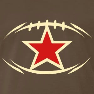 Chocolate american_football_modernstyle_star T-Shirts (Short sleeve) - Men's Premium T-Shirt