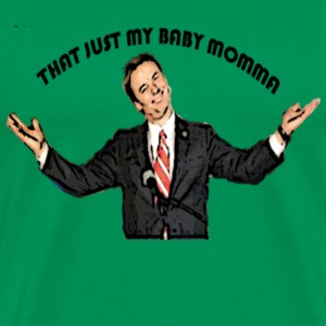Bright green john edwards - Baby momma T-Shirts (Short sleeve) - Men's Premium T-Shirt