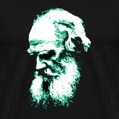 Black Tolstoy (Greenish outline) T-Shirts (Short sleeve)
