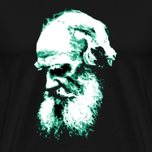 Black Tolstoy (Greenish outline) T-Shirts (Short sleeve) - Men's Premium T-Shirt