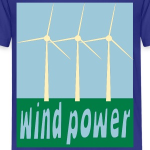 Royal blue Wind Power With Wind Turbines Kids Shirts - Kids' Premium T-Shirt