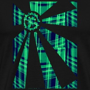 Gear Sunburst Tartan - Men's Premium T-Shirt