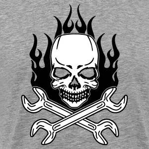 Ash  Tuning Skull T-Shirts (Short sleeve) - Men's Premium T-Shirt