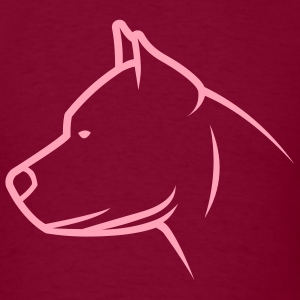 Burgundy dogz_pitbull_newstyle T-Shirts (Short sleeve) - Men's T-Shirt