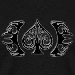 Poker Spade Logo - Black - Men's Premium T-Shirt
