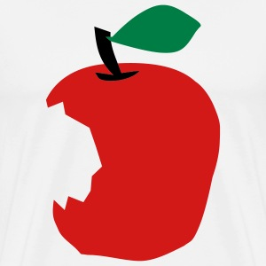 White Apple T-Shirts (Short sleeve) - Men's Premium T-Shirt