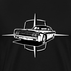 Black auto_lincoln_star_and_car_1_bw T-Shirts (Short sleeve)