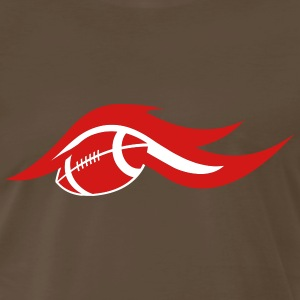 Chocolate american_football_on_fire T-Shirts (Short sleeve) - Men's Premium T-Shirt