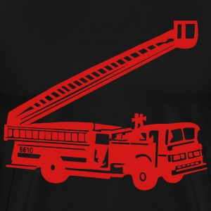 Black Fire Department - Fire Engine - Firefighter T-Shirts (Short sleeve) - Men's Premium T-Shirt