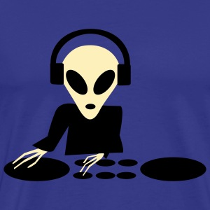 Royal blue DJ Alien Turntables T-Shirts (Short sleeve) - Men's Premium T-Shirt