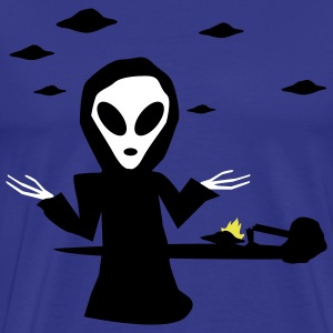 Royal blue Alien Accident T-Shirts (Short sleeve) - Men's Premium T-Shirt