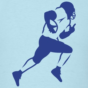 Sky blue american_football_running_back_v1 T-Shirts (Short sleeve) - Men's T-Shirt