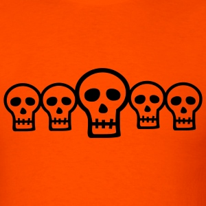 Halloween Row of Skulls - Men's T-Shirt