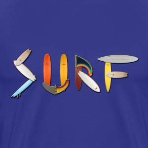 Royal blue surf_graffiti T-Shirts (Short sleeve) - Men's Premium T-Shirt
