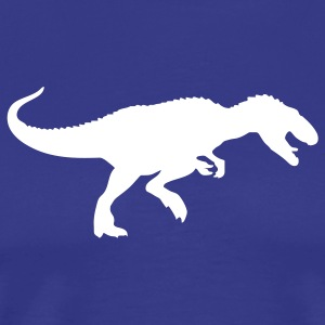 Royal blue dinosaur tyrannosaurus rex T-Shirts (Short sleeve) - Men's Premium T-Shirt