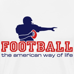 Natural AMfootball_the_american_way_of_life T-Shirts (Short sleeve) - Men's Premium T-Shirt