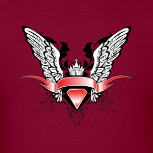 Winged scroll - Men's T-Shirt