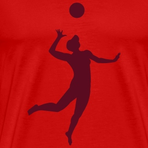 Red volleyball_beachvolley_v3 T-Shirts (Short sleeve) - Men's Premium T-Shirt