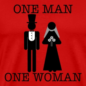 One Man, One Woman - Men's Tee - Men's Premium T-Shirt