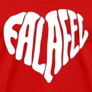 Red Falafel Love Heart T-Shirts (Short sleeve) - Men's Premium T-Shirt