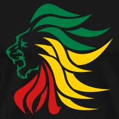 Black urban_lion_rastafari T-Shirts (Short sleeve)