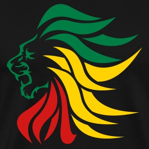 Black urban_lion_rastafari T-Shirts (Short sleeve) - Men's Premium T-Shirt