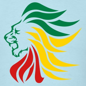 Sky blue urban_lion_rastafari T-Shirts (Short sleeve) - Men's T-Shirt