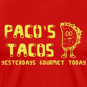 Red pacos Tacos T-Shirts (Short sleeve) - Men's Premium T-Shirt