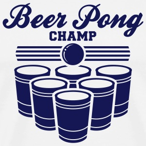 White ::BEER PONG CHAMP:: T-Shirts (Short sleeve) - Men's Premium T-Shirt